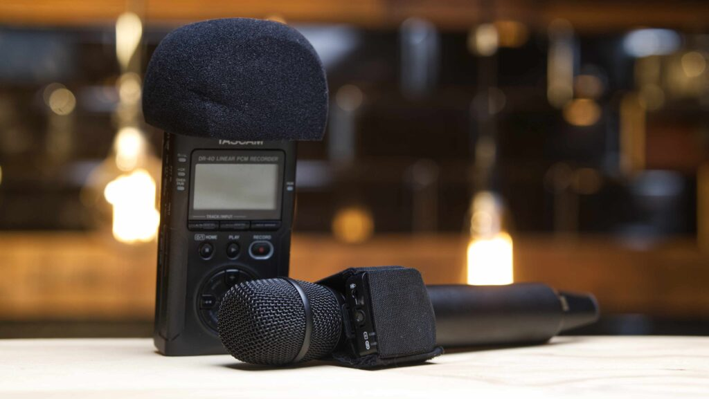 how to record audio at a wedding